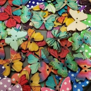 Butterfly Button Magnets random Selection of 10